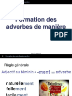 2 Formation Des Adverbes de Maniere