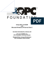 Using OPC via DCOM With Microsoft Windows XP Service Pack 2