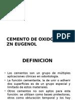 Oxido de Zn Eugenol