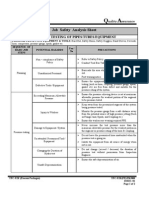 Job Safety Analysis for Pressure Testing