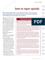 Opioid Tapering Protocols 2012