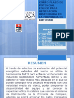 Predicción a Corto Plazo de Potencial Eólico Para Generación Distribuida en La Provincia de Cotopaxi