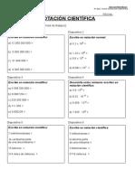 Ejercicios Notacion Cientifica 3º ESO