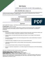 beth szwiec resume certified teacher 3062016