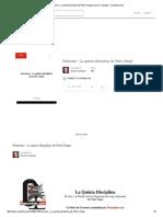 Resumen - La Quinta Disciplina de Peter Senge _ Socorro Vazquez - Academia