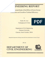 An Experimental Study in Design of Cross Flow Turbines - 52 Pg