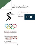 Torneo Masculino de Rugby en Los Juegos Olímpicos de Río de Janeiro 2016