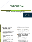 Ecotourism in Hill and Mountain Regions