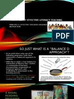 principles of effective teachers of reading ii