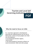 Tourism and Local Self Governing Institutions