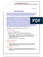 RBI Annual Monetary Policy for 2010-2011