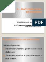 Chapter 4 mathematical reasoning