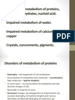 Disorders of Metabolism of Proteins Lipids