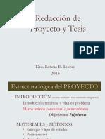 Esquema de Redaccion Proyecto y Tesis