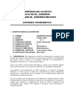 Carta Descriptiva Geometria Descriptiva
