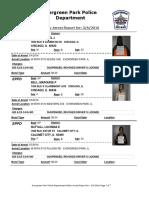 Evergreen Park Arrests, Feb. 26-March 4, 2016