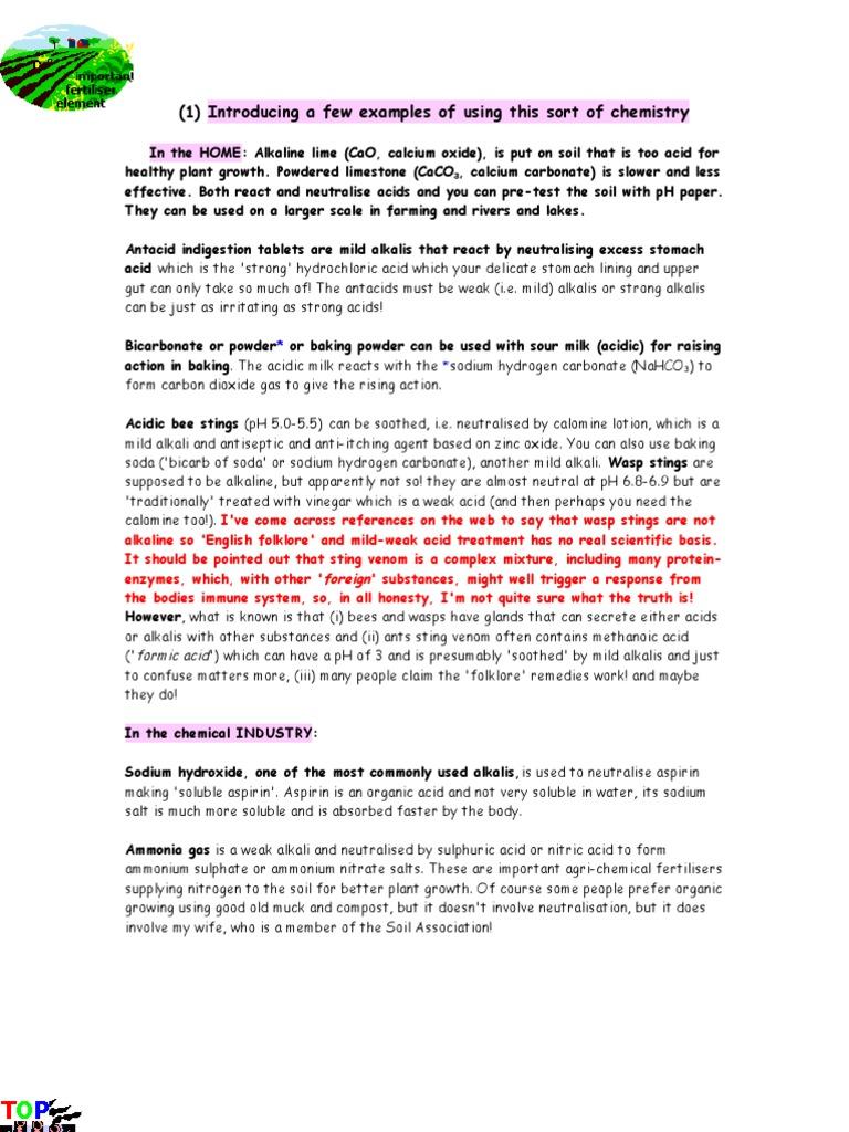 Acid Base | Hydroxide | Sodium Carbonate