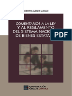 Comentarios a La Ley y Reg. Del Sistema Nacional de Bienes Estatales, 2014, GJ 609p.
