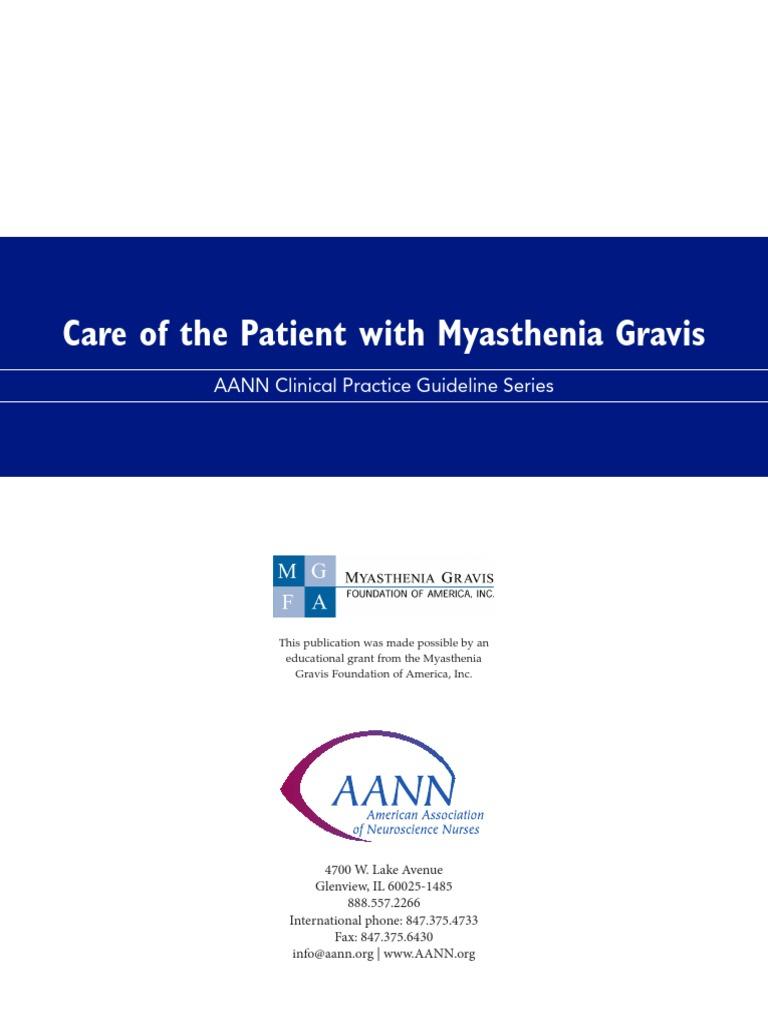Myasthenia Gravis Neuromuscular Junction