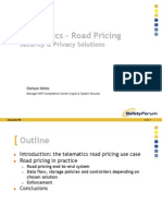 Privacy Intelligent Transport Systems Road Pricing