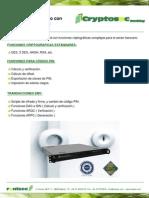 Cryptosec Banking | Servidor criptográfico con funciones bancarias