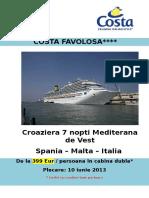 Oferta Speciala Costa Favolosa Savona 176