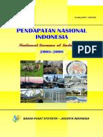 Pendapatan Nasional Indonesia Tahun 2005 2008