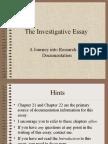 The Investigative Essay