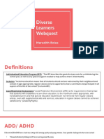 diverse learners webquest