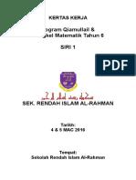 KERTAS KERJA Program Qiamullail Tahun 6 2016