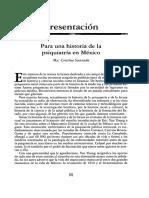 Para Una Historia de La Psiquiatria en MExico- Cristina Sacristan