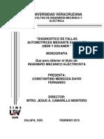 Tesis Sobre Diagnóstico de fallas a través de códigos de falla y escaner