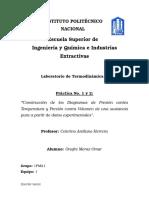 Practica 1 y 2. Diagramas P-Vg y P-T