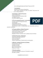 [PROGRAMA] Direito Financeiro - Professor Rodrigo Kanayama