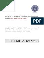 Step-By-Step HTML Tutorial - Advanced