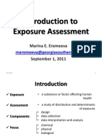 Introduction to Exposure Assessment