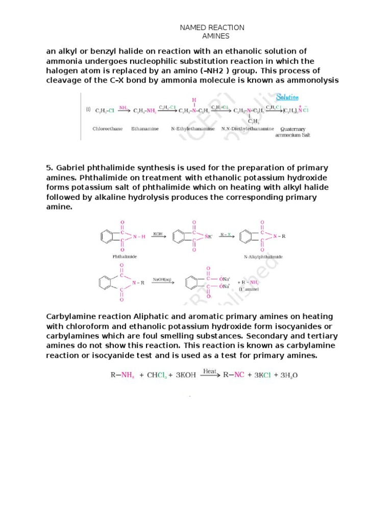 AMINES | Amine | Chemical Reactions