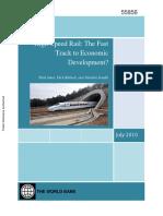 High Speed Economic World Bank