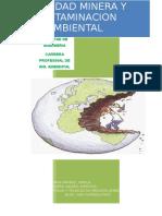 Actividad Minera y Contaminacion Ambiental