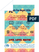 Math Night Poster