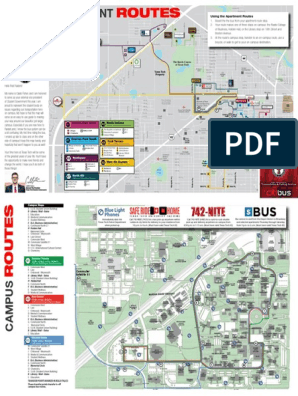 2015 2016 Campus and Apartment Bus Route Map | Bus | Industries