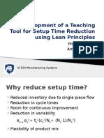 Development of a Teaching Tool for Setup Time