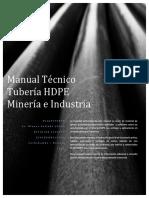 Manual Técnico Tubería HDPE Minería e Industria. Rev 0