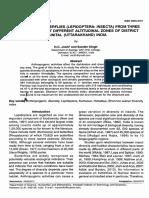DIVERSITY OF BUTTERFLIES (LEPIDOPTERA