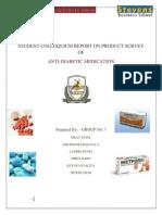 Report-Anti Diabetic Medication