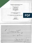JOSE, Antonio (1902-1936) - Sonata Para Guitarra -Facsimil