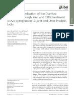 An External Evaluation of the Diarrhea Alleviation Through Zinc and ORS Treatment Program in Gujarat and Uttar Pradesh