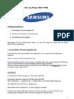 "Firmware-Update ""SAMSUNG Blu-ray Player BD-P1000"""