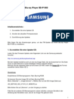 "Firmware-Update ""SAMSUNG Blu-ray Player BD-P1000"""