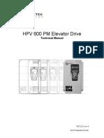HPV 600 PM Elevator Drive TM7323_R4